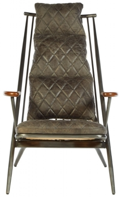 Bexley Genuine Ebony Leather Chair