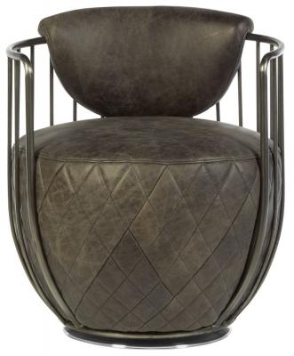 Bexley Genuine Ebony Leather Swivel Chair