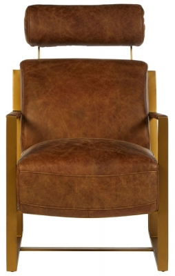 Bexley Genuine Rose Gold Lounge Chair