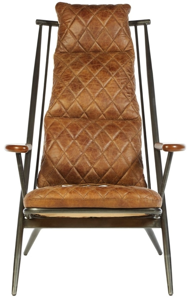 Bexley Genuine Light Brown Leather Chair