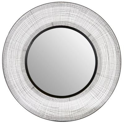 Brisbane Black Circular Wall Mirror