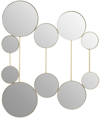 Brisbane Gold Multi Mirror Design Wall Mirror