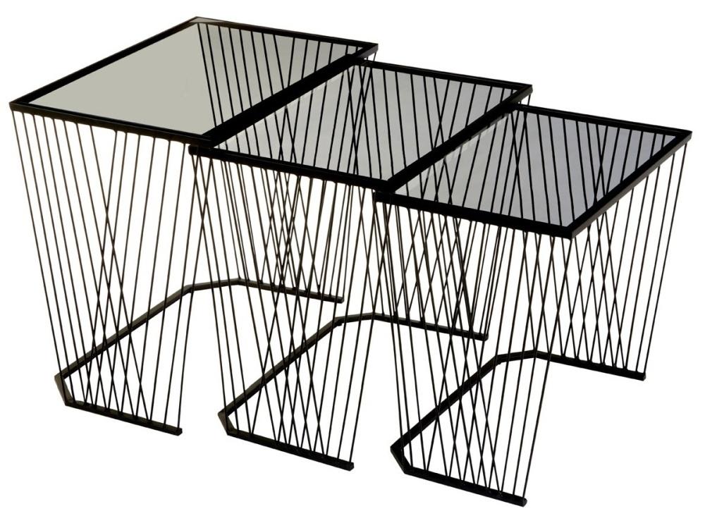 Brisbane Black Side Tables (Set of 3)