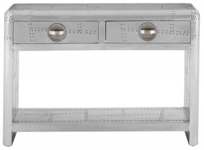 Chalfont Aviator Aluminium 2 Drawer Console Table