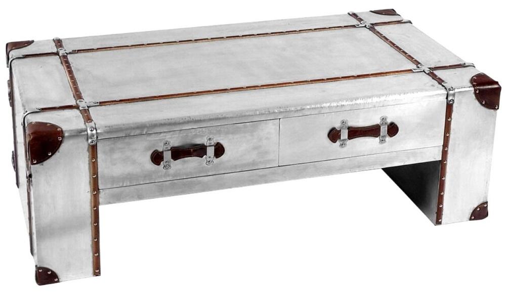 Chalfont Aviator Aluminium 2 Drawer Coffee Table