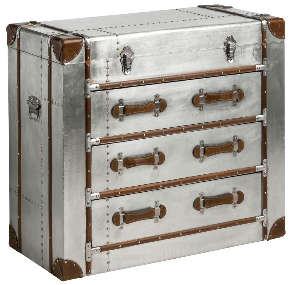 Chalfont Aviator Aluminium 3 Drawer Cabinet