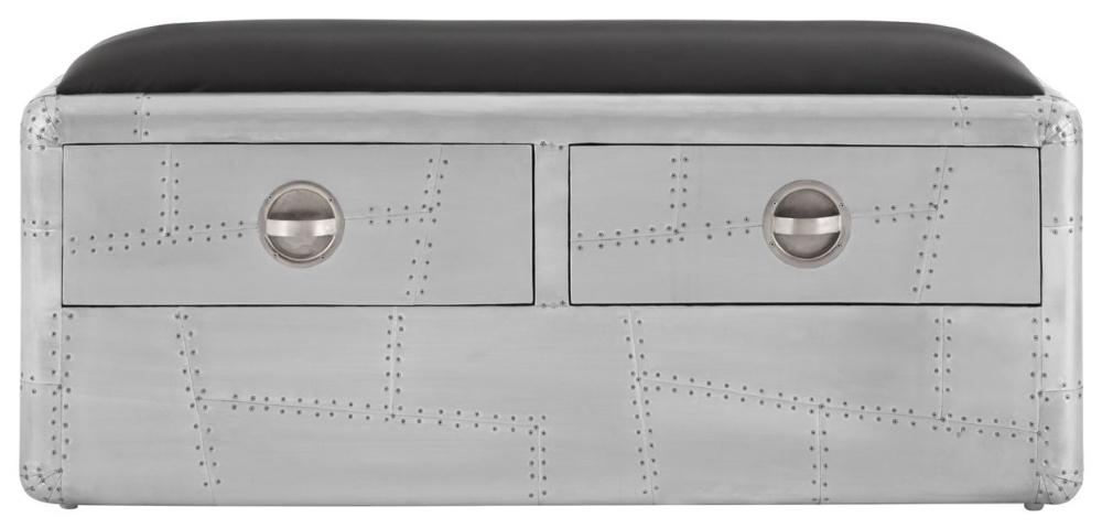 Chalfont Aviator Aluminium 2 Drawer Bench