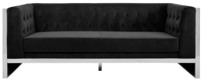 Envi Black Velvet 3 Seater Sofa