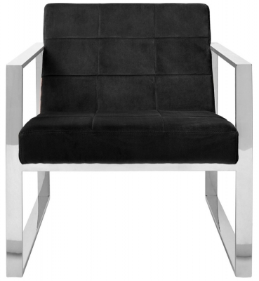 Envi Black Velvet Cocktail Chair