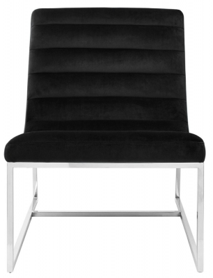 Envi Black Velvet Curved Cocktail Chair