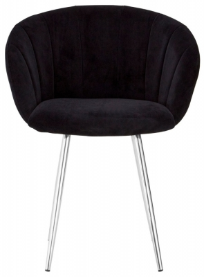 Envi Black Velvet Dining Chair