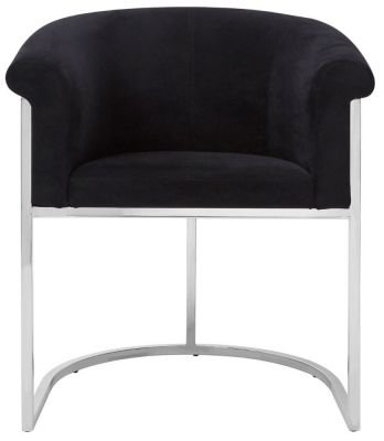 Envi Black Velvet Luxe Dining Chair