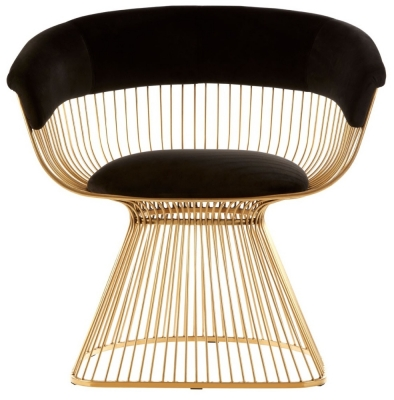 Envi Gold and Black Velvet Chair