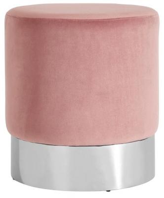 Envi Pink Velvet Round Stool