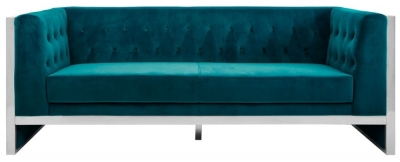 Envi Teal Velvet 3 Seater Sofa