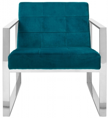 Envi Teal Velvet Cocktail Chair
