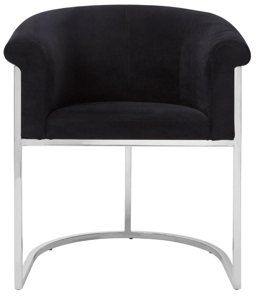 Envi Black Velvet Luxe Dining Chair