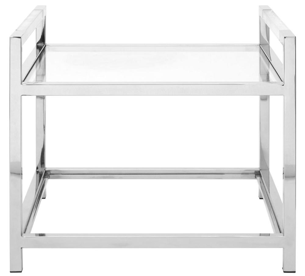 Envi Glass and Chrome End Table