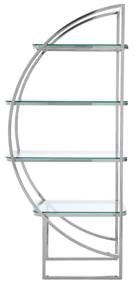 Envi Glass and Chrome Left Side Shelf Unit