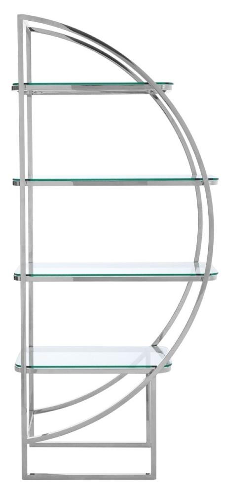 Envi Glass and Chrome Right Side Shelf Unit