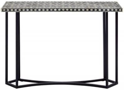 Esher Black Bone Inlay Sheesham Console Table