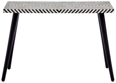 Esher Black and White Bone Inlay Sheesham Console Table
