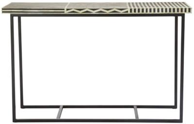 Esher Black Bone Inlay Mango Console Table