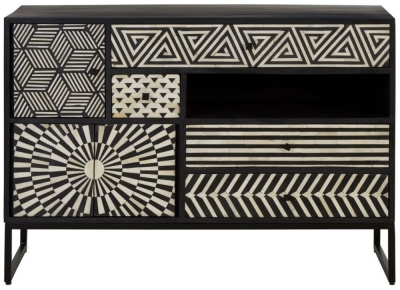 Esher Black Bone Inlay Chest