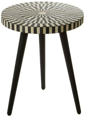 Esher Black Bone Inlay Round Side Table