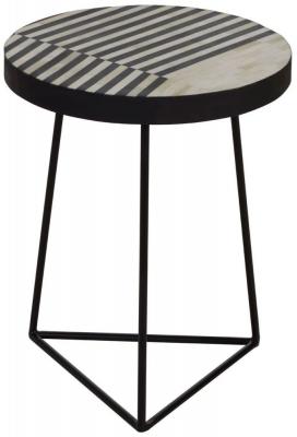 Esher Black Bone Inlay Triangular Frame Side Table