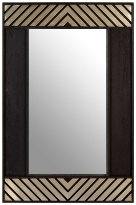 Esher Black Mango Wood Wall Mirror