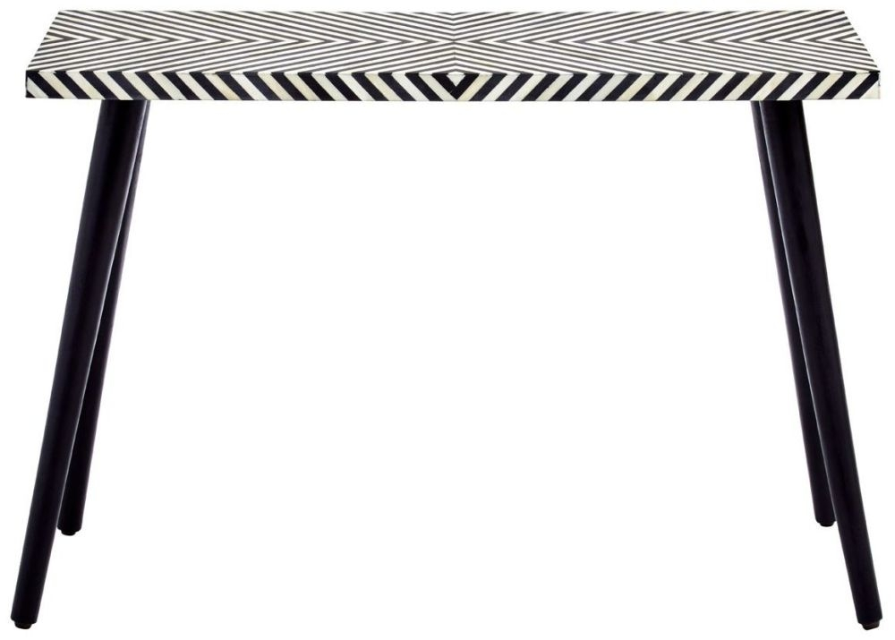 Esher Black and White Bone Inlay Sheesham Console Table