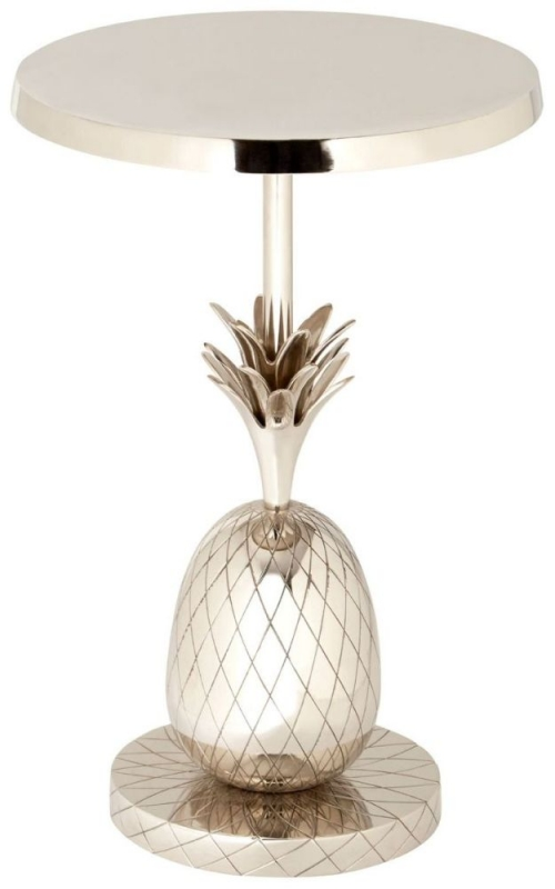 Esher Silver Pineapple Round Side Table