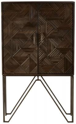 Santa Fe Grey Mango Wood 2 Door Cabinet