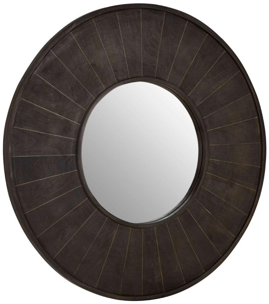 Terrell Grey Mango Wood Wall Mirror