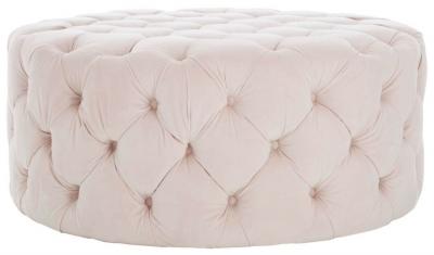 Tuxedo Pink Tufted Footstool