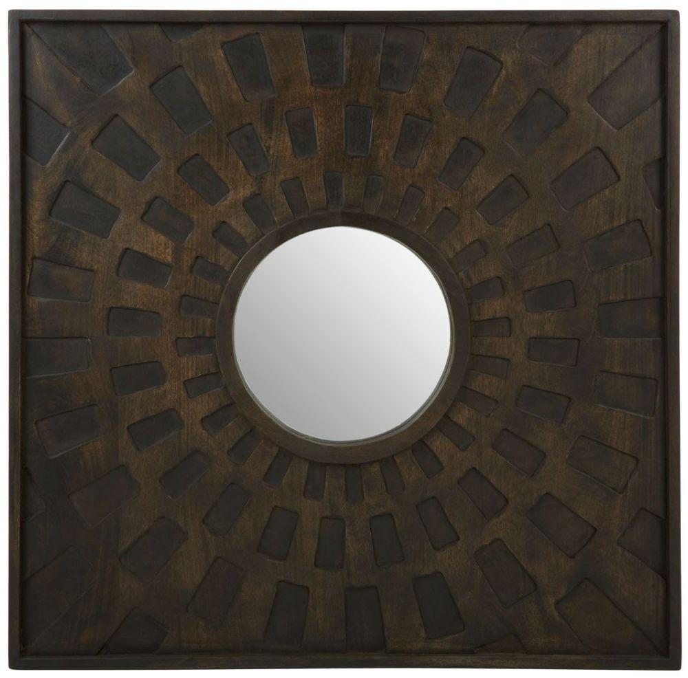 Tuxedo Brown Mango Wood Wall Mirror