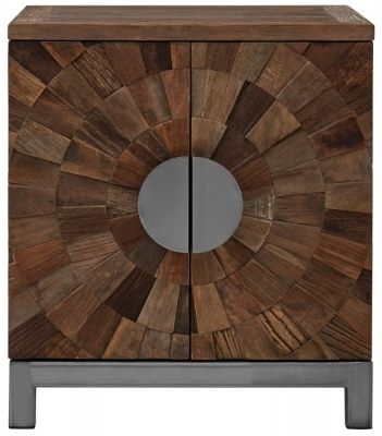 Virginia Natural Wood 2 Door Small Cabinet