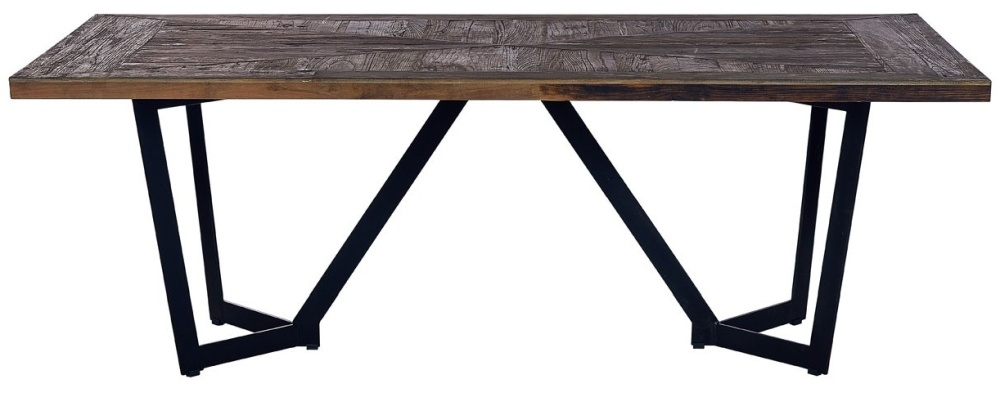 Virginia Natural Wood 220cm Dining Table