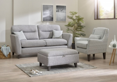 Lebus Clara 3 Seater Fabric Sofa Suite