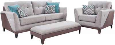 Lebus Dakota 3+1 Fabric Sofa with Fender Footstool