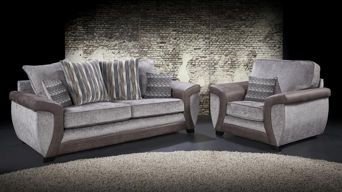 Lebus Illusion Fantasy Fabric Sofa Suite