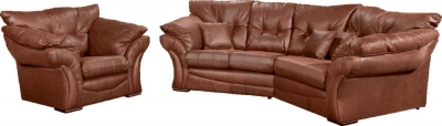 Lebus Florida Faux Leather Cozy Corner Sofa Suite