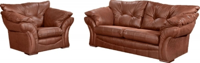 Lebus Florida Faux Leather Sofa Suite