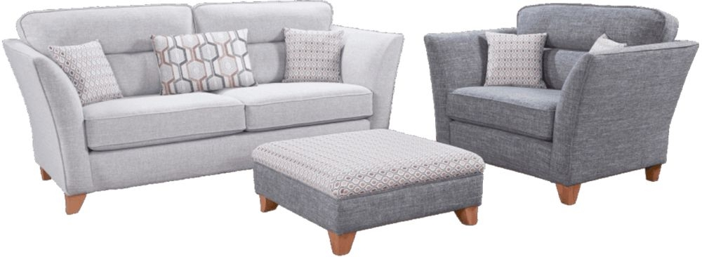 Lebus Haven 3+1 Seater Fabric Sofa with Footstool