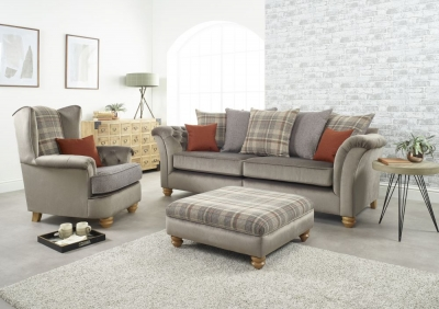 Lebus Ingles 4 Seater Fabric Sofa Suite
