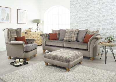 Lebus Ingles 4 Seater Fabric Sofa Suite