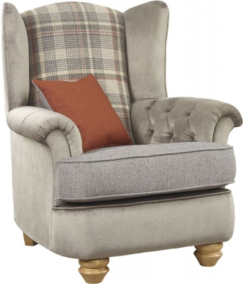 Lebus Ingles Fabric Wing Chair