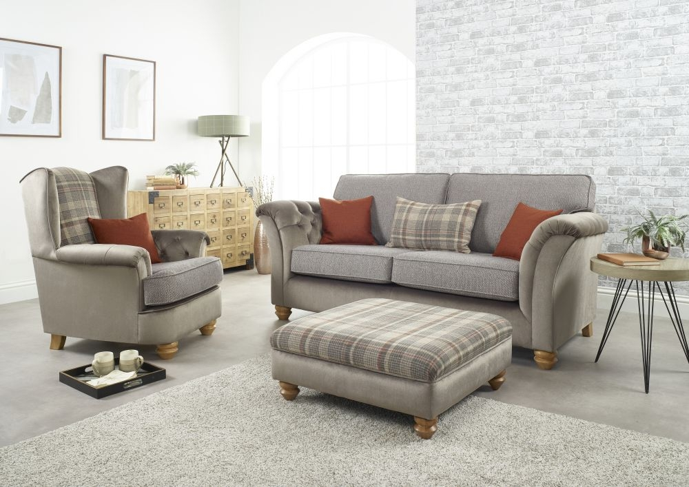 Lebus Ingles 3 Seater Fabric Sofa Suite