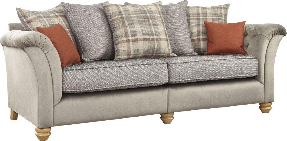 Lebus Ingles 4 Seater Fabric Sofa